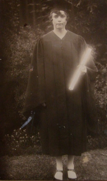 1928_ Grammy college grad - light saber